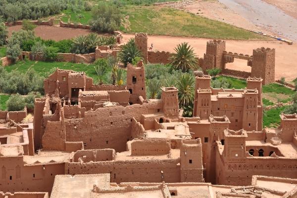 terra cruda-paglia-vilalggio-Marocco-sistema costruttivo