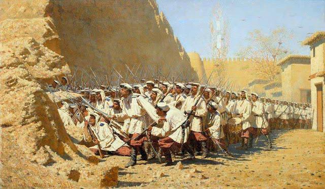 Василий Васильевич Верещагин - У крепостной стены. Пусть войдут. 1871
