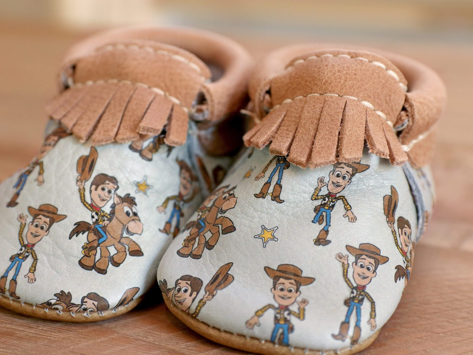 Toy Story Freshly Picked Woody and Bullseye Moccasins for Baby
