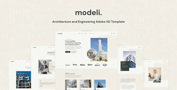 Best Architecture and Engineering Adobe XD Template