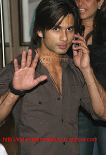 Hand Image Of Shahid Kapoor Palmistry