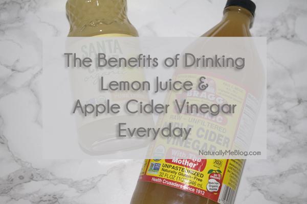 Benefits of apple cider vinegar and lemon juice