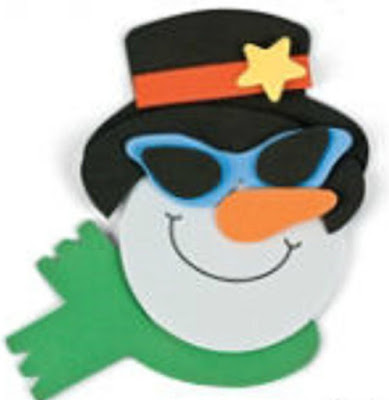 Foam snowman craft kit makes 12