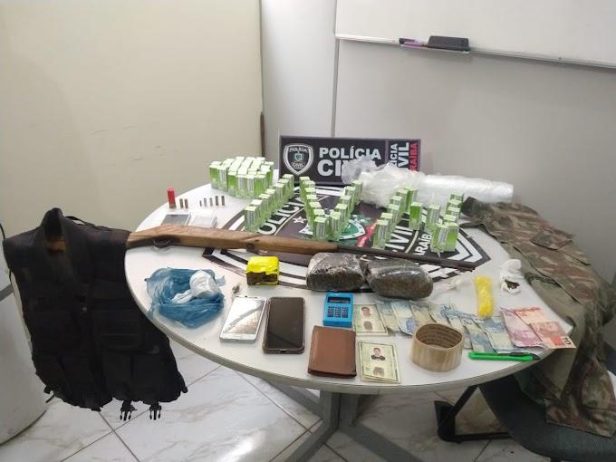 POLÍCIA CIVIL em QUEIMADAS prende envolvidos em duplo homicídio e tráfico de drogas.