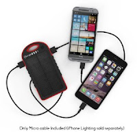 Solar Assist Charger  Shockproof/Water-Resistant 5300Mah Charger Power Bank EoIkBipuSaw