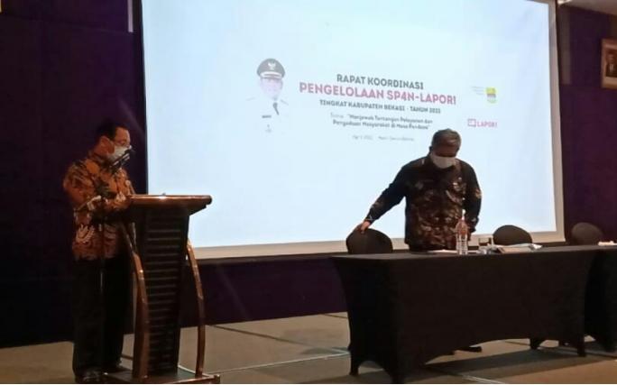 Pemkab Bekasi Gelar Rapat Kordinasi Pengelolaan SP4N-LAPOR Tahun 2021