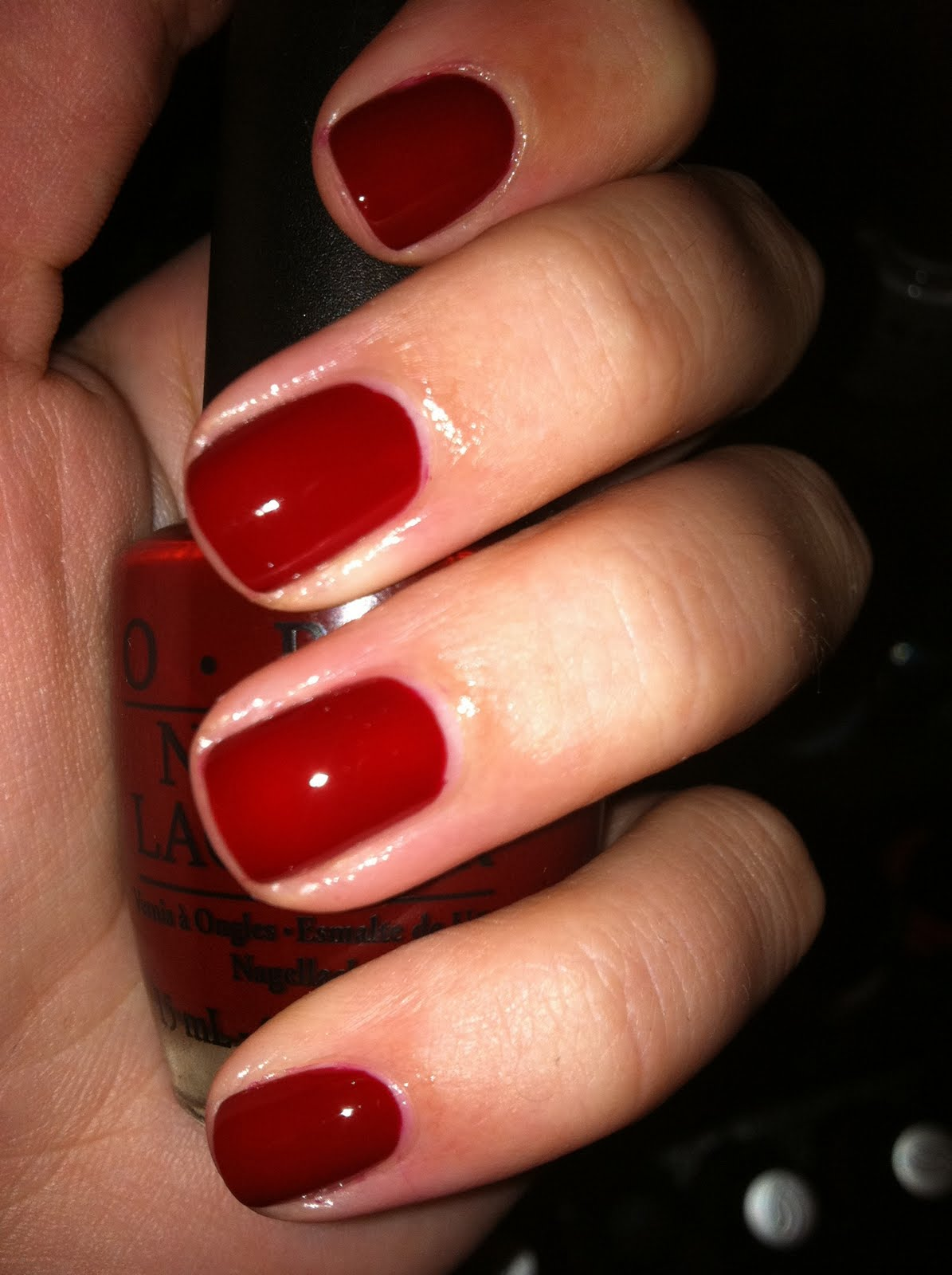 The Real Polish Princess Opi Got The Blues For Red