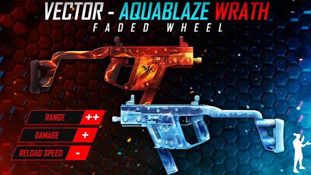 Bocoran Skin Senjata Terbaru Free Fire Vector Aquablaze Wrath