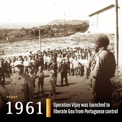 December 19 ,1961 Operation Vijay was launched to liberate  Goa from Portuguese 451 years control- ఆపరేషన్ విజయ్ --451 సంవత్సరాల పోర్చుగీసు వారి  సుదీర్ఘ పాలన నుంచి గోవా కు విముక్తి కలిగించిన ఈ సైనికచర్య...గోవా పూర్తీ వివరాలు