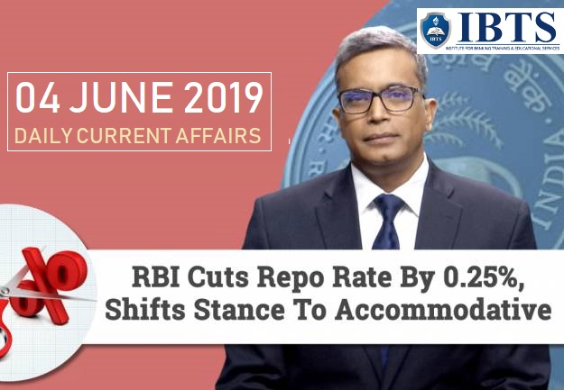 06 June 2019 - Daily Current Affairs
