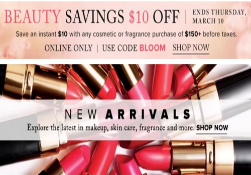 Hudson's Bay Beauty Savings $10 Off Promo Code