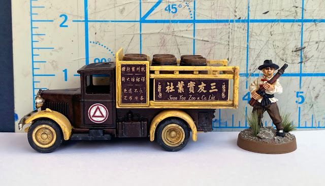 Lledo DG20 Ford 1934 Model A Stake Truck , Sean You Zoo Company, Hangchow, China, 28mm WW2 Bolt Action Wargaming