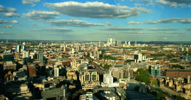 Spectacular view over London from Sky Garden