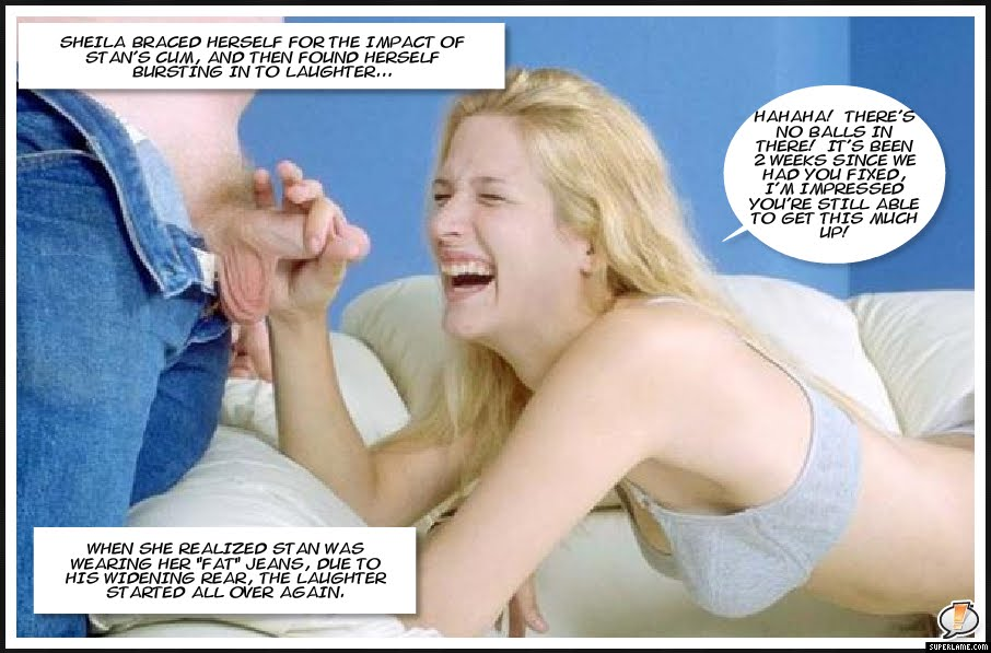girlfriend ballbusting captions