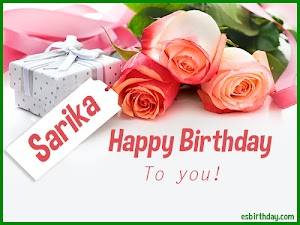 Happy Birthday Sarika