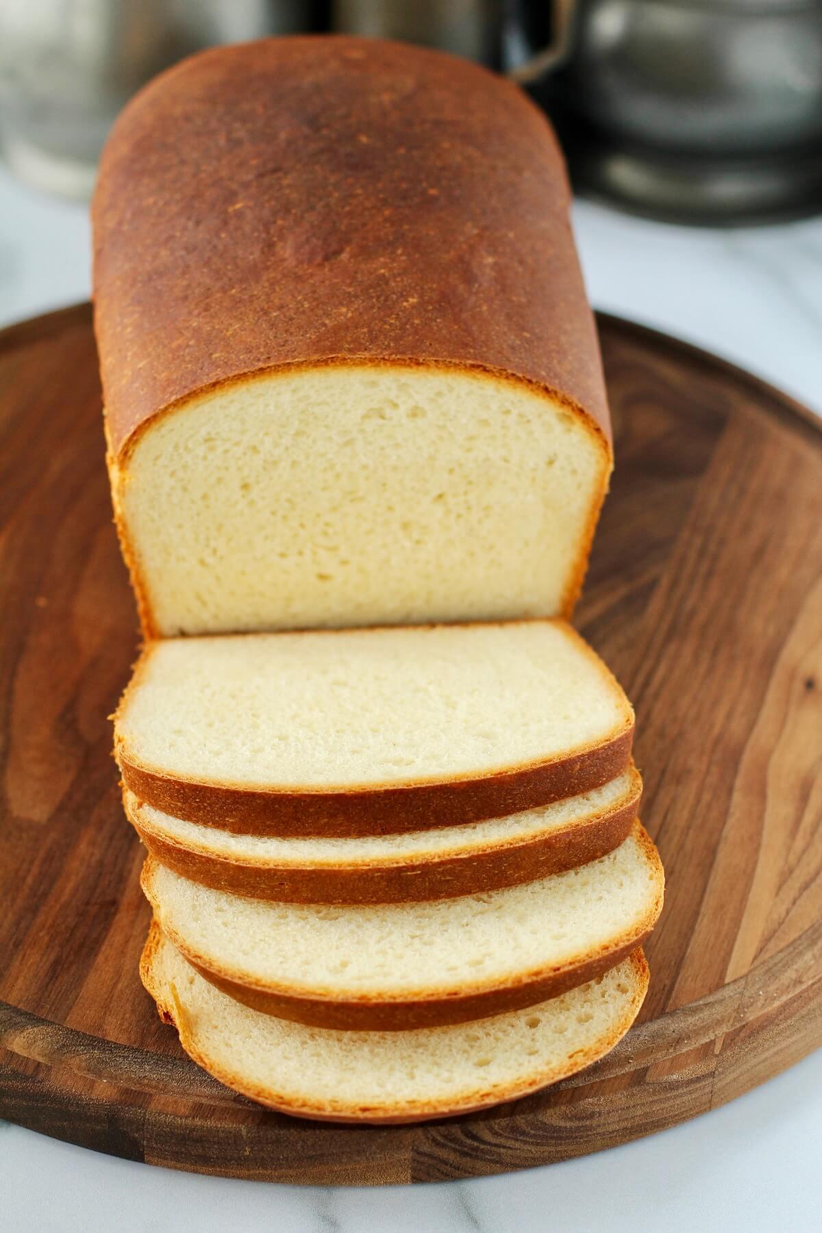 Homemade Wonder Bread (Copycat) sliced
