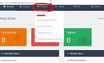 cara mudah setting domain ke blogger