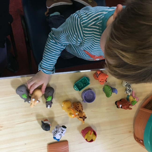 our-weekly-journal-13-feb-2017-toddler-playing-with-animals-and-noahs-ark-toy