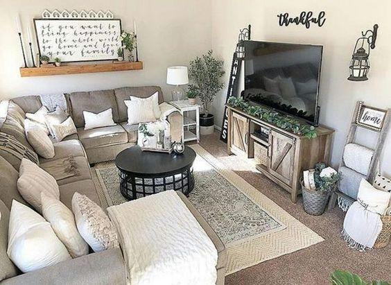 21 Awesome Farmhouse Living Room Tv Stand Design Ideas Ara Home
