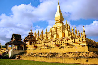 Große goldene Stupa in Vientiane
