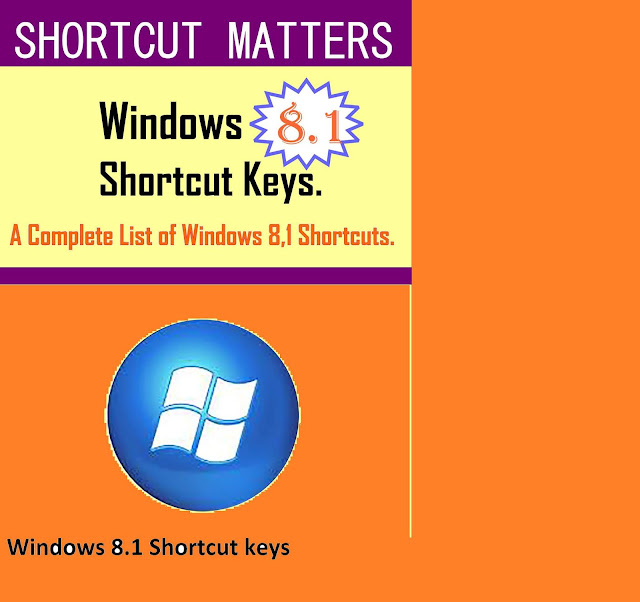 Some shortcuts of windows 8.1 you should know