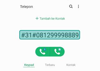 Aplikasi untuk private number