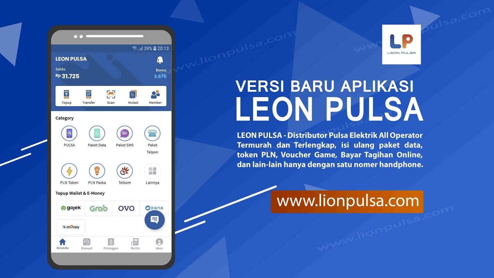 Aplikasi Jualan Pulsa Termurah Terbaru Leon Pulsa