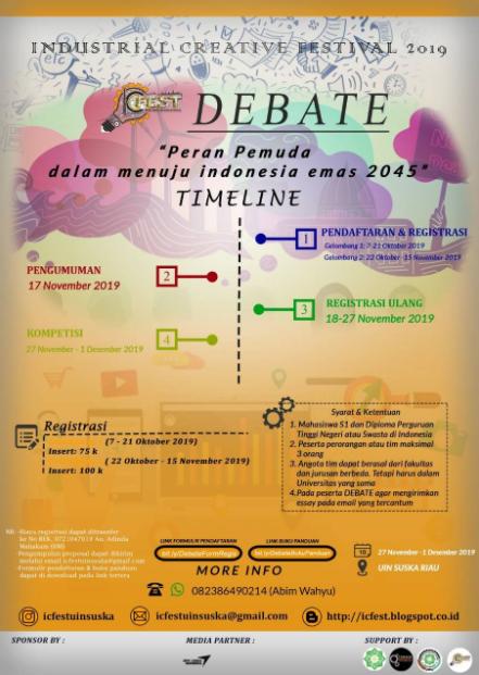 Lomba Debat Mahasiswa Nasional 2019 Total Hadiah Jutaan Rp