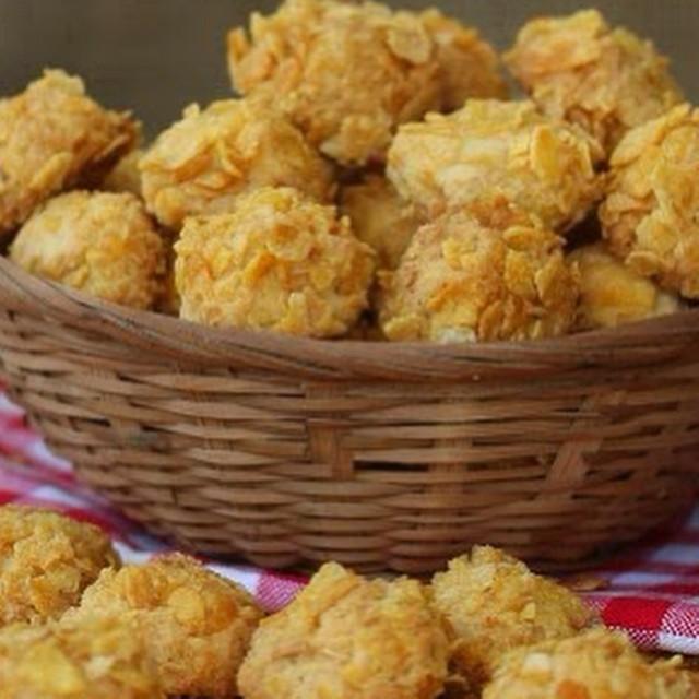 Cara membuat Cornflakes Cheese Cookies (Cornflakes Keju) yang enak ...
