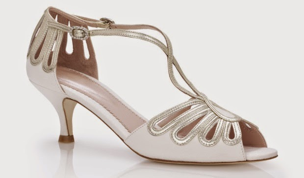 Kitten Heeled Uk Vintage Wedding Shoes Ivory
