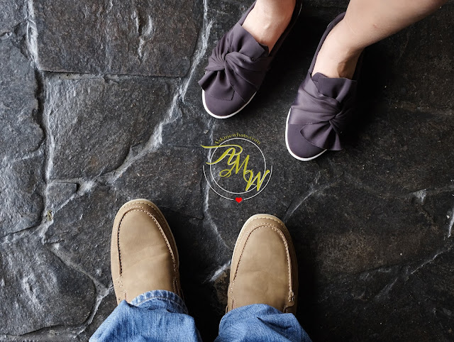 a photo of husband and wife wearing Bata Shoes, Holiday Gift Idea 2017