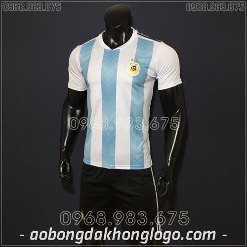 Áo Bóng Đá Đội Tuyển Argentina Xanh Trắng 2019