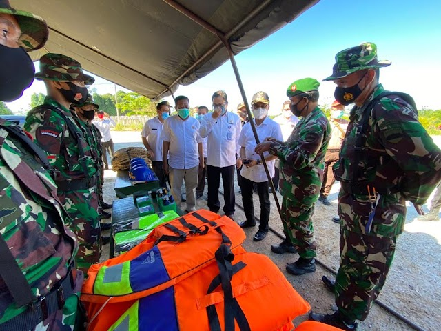 Kodim 0308/Pariaman Laksanakan Apel Gabungan Siaga  Bencana Gempa Bumi, Tsunami dan Cuaca Ekstrim La Nina Tingkat Kabupaten Padang Pariaman