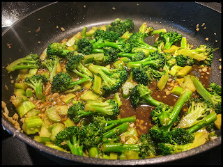 Triple Immune System Boost Broccoli Stir Fry before going into my bowl and adding sesame seeds.