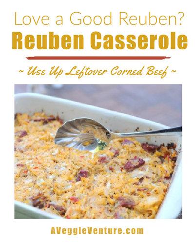 Reuben Casserole ♥ AVeggieVenture.com, great for leftover corned beef, quick, easy & very tasty.