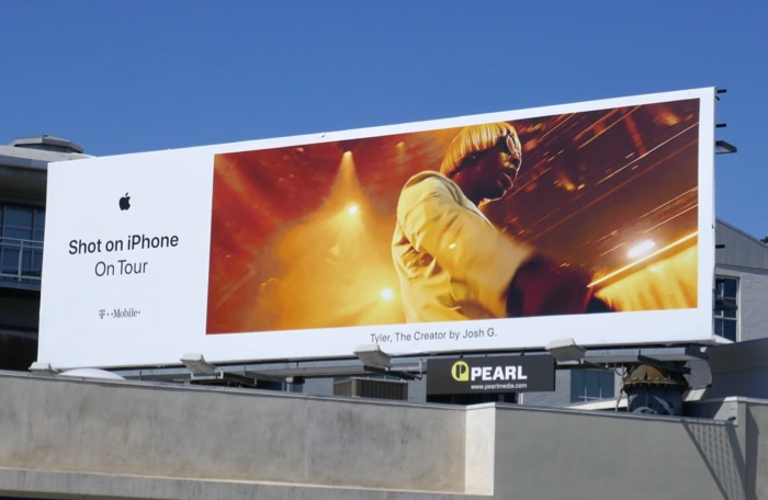 Shot on iPhone On Tour Tyler Creator billboard