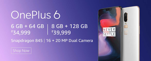 One Plus 6 Available at Rs. 1500 Discount Starting August 01: eAskme