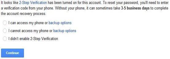 cara reset kata sandi gmail