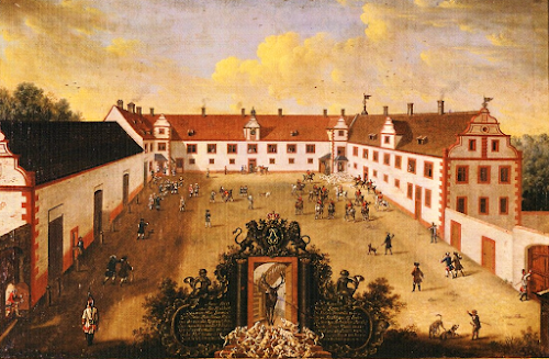 Ansicht des Jagdschlosses Kranichstein um 1760