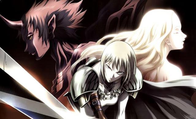 Claymore - Anime Tokoh Utama Menggunakan Pedang