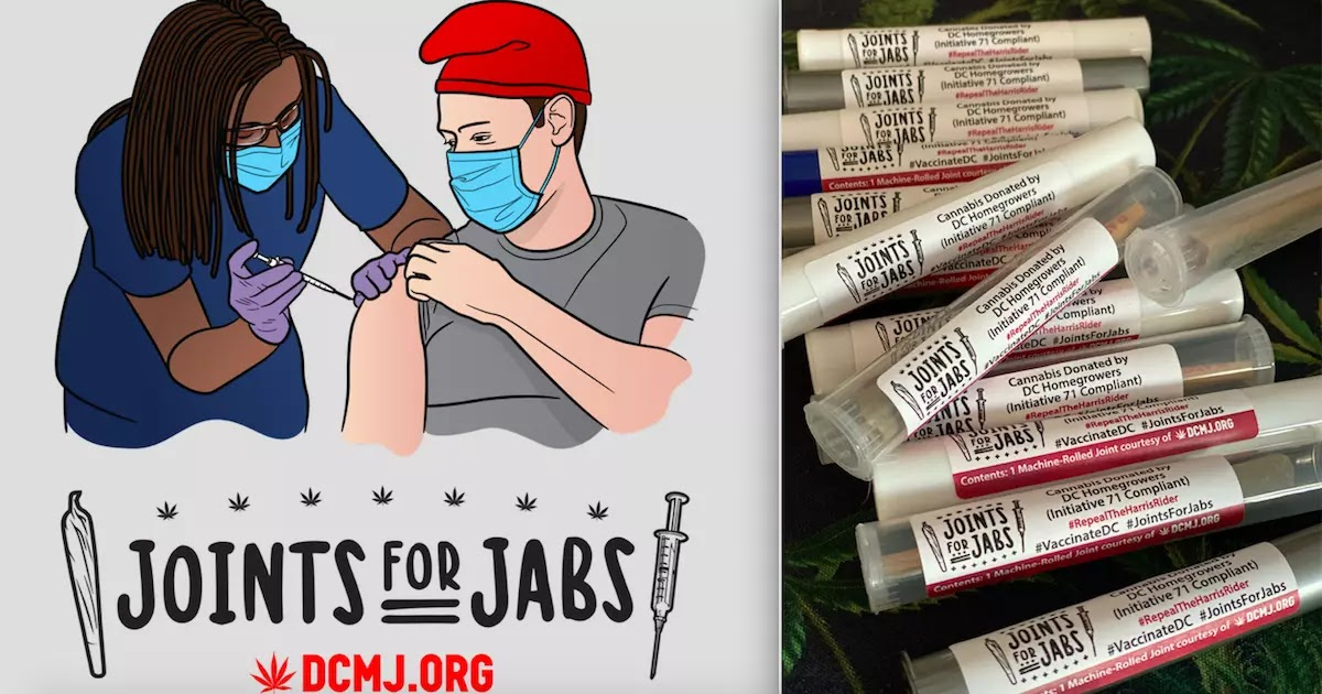 Activists Are Giving Out Free Marijuana Joints To Those Who Get The CoVid-19 Vaccine