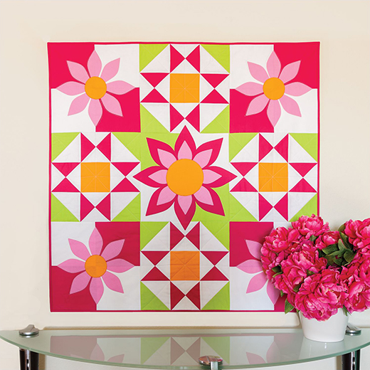 Awesome Blossom Wall Hanging designed by Accuquilt
