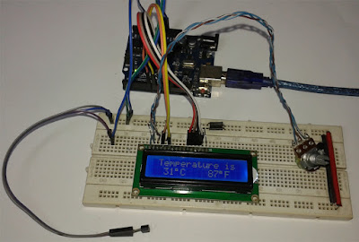 How to make a digital thermometer using arduino, lm35 temperature sensor and 16x2 lcd display