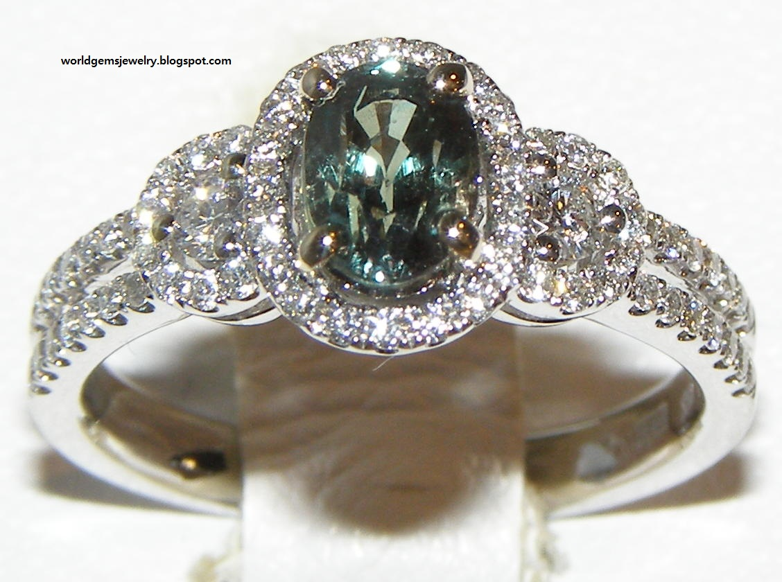Alexandrite White Gold Ring