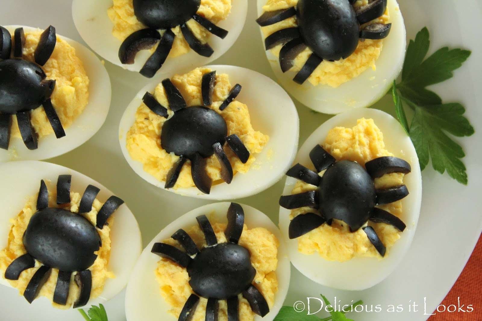 Halloween Spooky Spider Deviled Eggs