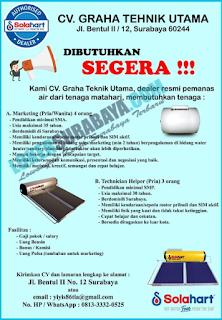 Bursa Kerja Surabaya Terbaru di CV. Graha Teknik Utama Juni 2019