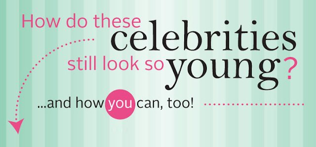How-Do-Celebrities-Still-Look-So-Young  #Infographic