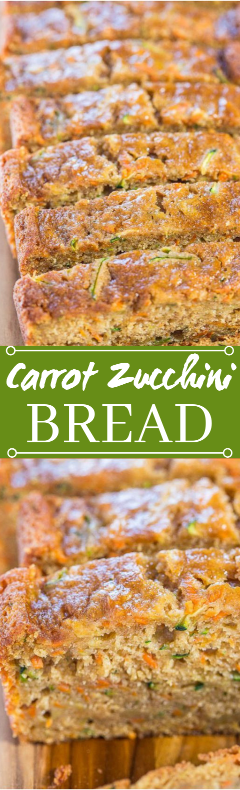 Carrot Zucchini Bread #vegetarian #breakfast