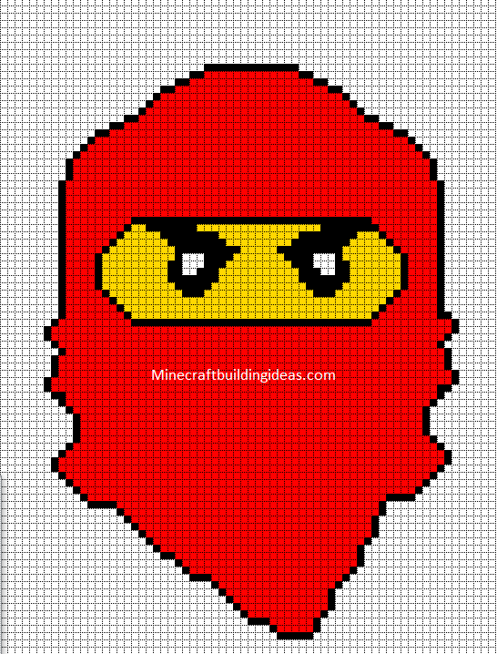 Minecraft Pixel Art Templates Lego Ninjago Red
