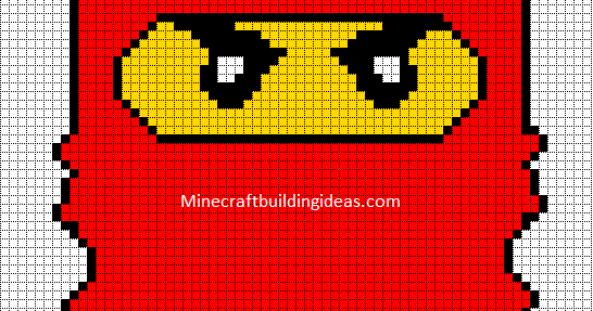 Minecraft Pixel Art Templates Lego Ninjago Red